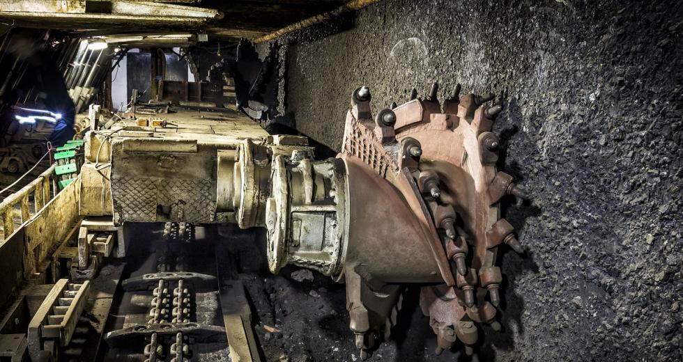 Kohlehobel in Bergbaustollen