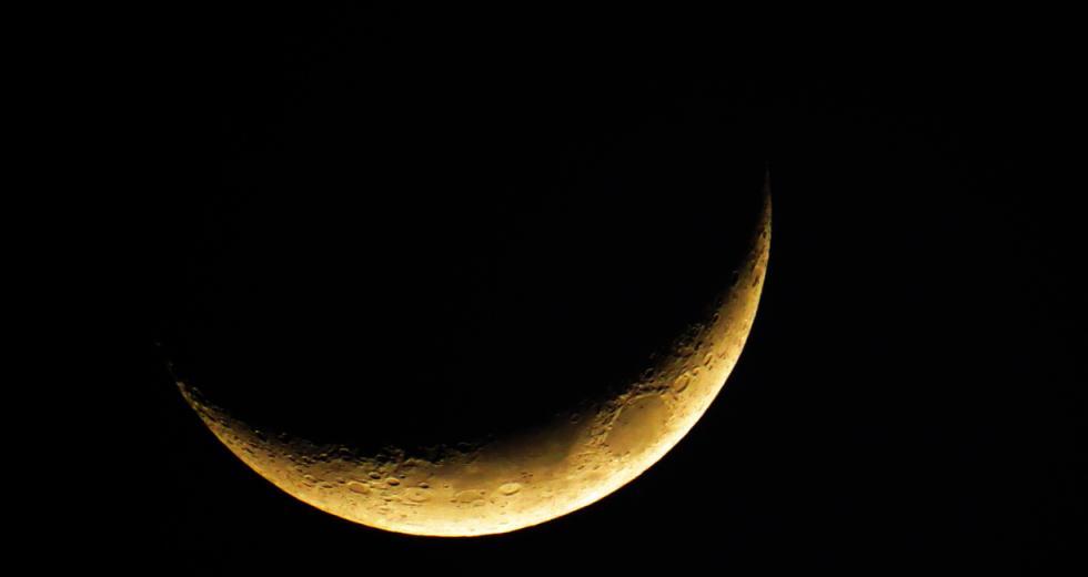 Liegende Mondsichel