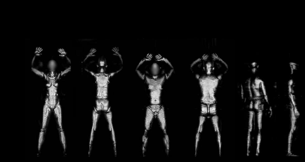 Aufnahmen eines Terahertzscanners