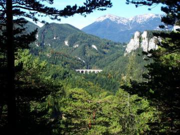 Panoramablick auf das Kalte Rinne-Viadukt