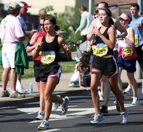 Marathonlauf: Weibliche Teilnehmerinnen sind erst seit 1972 zugelassen.