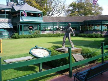 Tennisrasen in der Tennis Hall of Fame