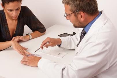 Beratungsgespräch beim Arzt