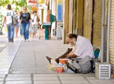Bettler in Griechenland