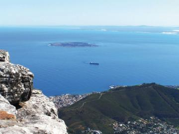 Nelson Mandela saß 18 Jahre im Gefängnis Robben Island inSüdafrika