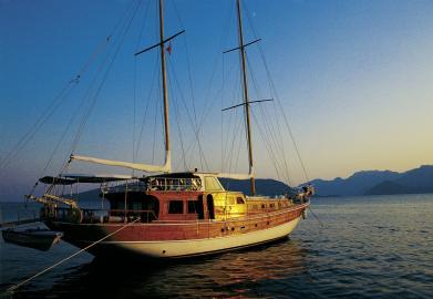 Segelboot in Marmaris