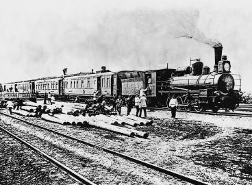 Bau der Transsibirischen Eisenbahn