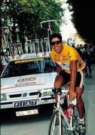 1993 / Tour de France / Indurain mit Materialwagen