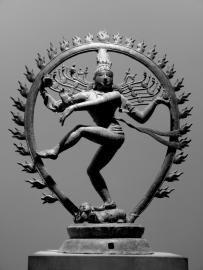 Bronzestatue der Shiva - indische Gottheit