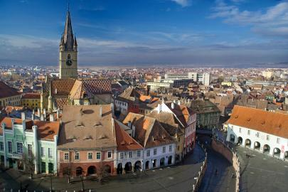 Die historische Altstadt von Sibiu