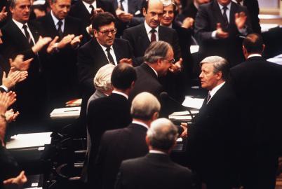 Kanzlerwechsel 1982. Helmut Kohl, Helmut Schmidt