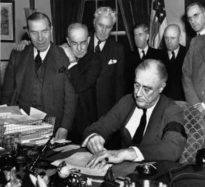 1941 / Roosevelt / Kriegserklärung der USA gegen Japan: Franklin D.