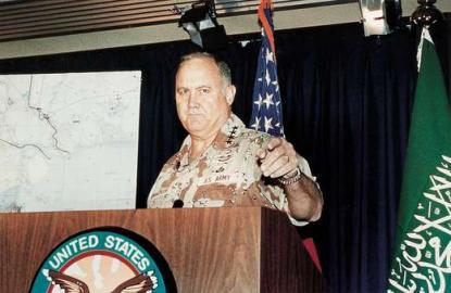 1991 / Golfkrieg / Norman Schwarzkopf, Oberbefehlshaber der US-Streitkräfte im N