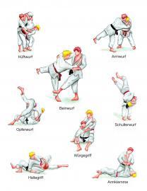 Griffe und Wurftechniken beim Judo