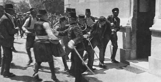 Serbien Sarajewo Attentat auf Franz Ferdinand, 28.6.1914