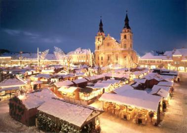 Der Ludwigsburger Weihnachtsmarkt in schönster Weihnachtsstimmung
