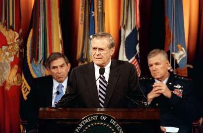 Verteidigungsminister Donald H. Rumsfeld