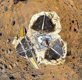 Pathfinder, Mars, Blick von Oben