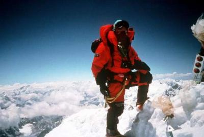 Der Sherpa Jamling Norgay auf dem Gipfel des Mount Everest