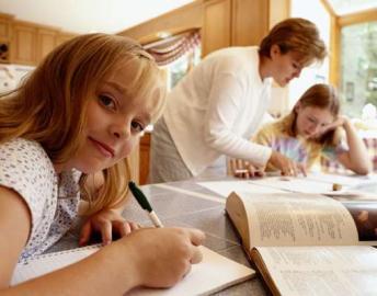 Schüler, Hausaufgaben, lernen, Mädchen