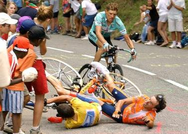 Tour de France 2003, Etappe 15, Sturz, Armstrong, Mayo, Ullrich, Luz-Ardiden