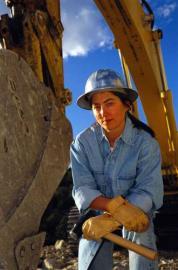 Bauarbeiterin, Baustelle, eine Frau, Männer Beruf