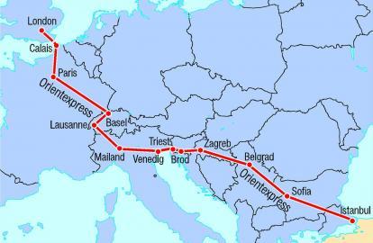 Streckenführung des Orient Express