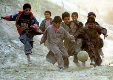 afghanische Kinder, Fußball, Afghanistan