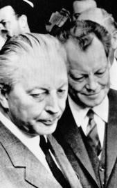 Kiesinger und Brandt: erste Große Koalition