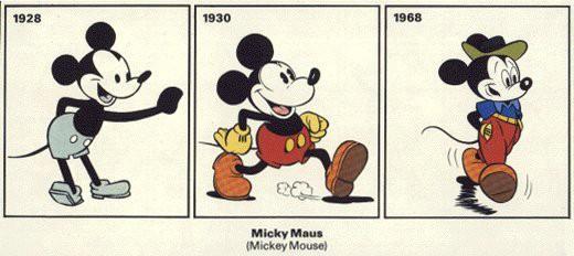 Micky Maus von 1928 bis 1968