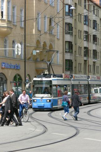Mit der Tram durch München