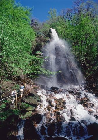 Wasserfall im thüringischen Trusetal