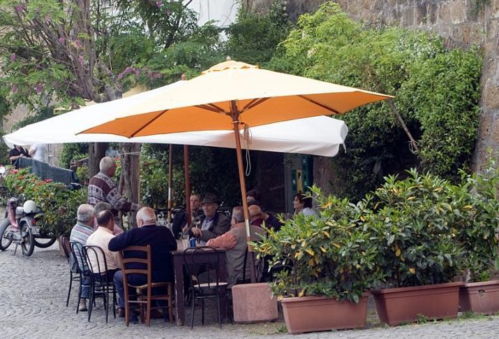 Plauderstündchen in Tuscania