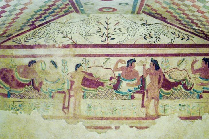 Grabmalerei in Tarquinia