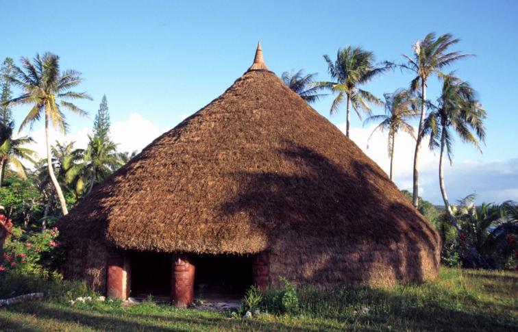 Grande Case (Haus des Chefs) von Inagoi auf der Insel Lifou