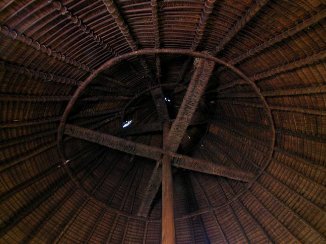 Dachkonstruktion des Grande Case von Oua Tom