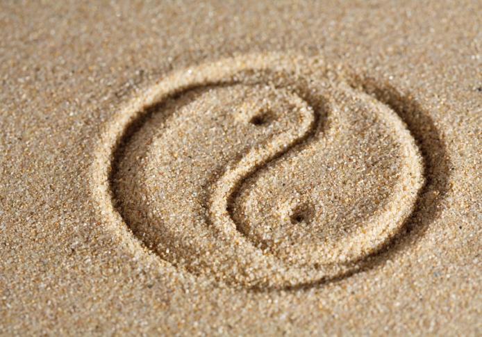Mandala im Sand