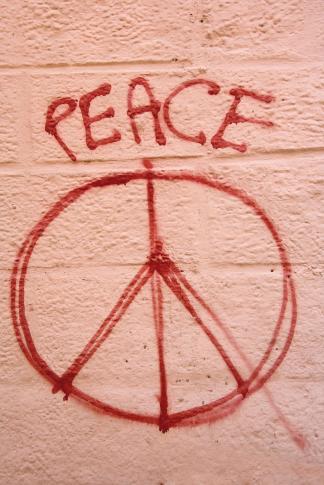 Graffiti mit Peace-Zeichen