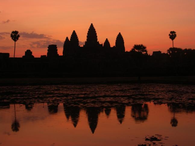 Angkor Vat bei Sonnenaufgang