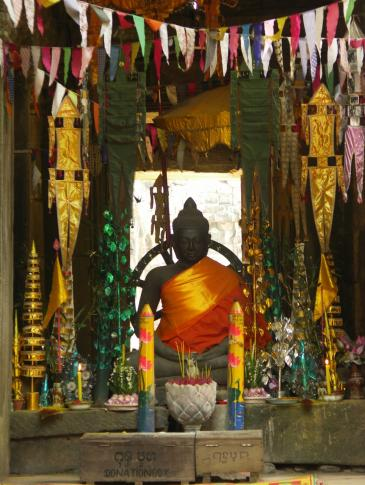 Buddhastatue im Tempel Bantaey Kdei
