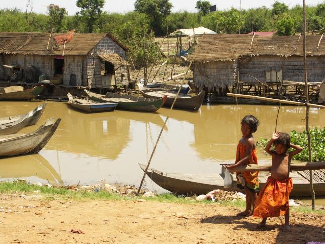 Bei den schwimmenden Dörfern am Boeng Tonle Sab
