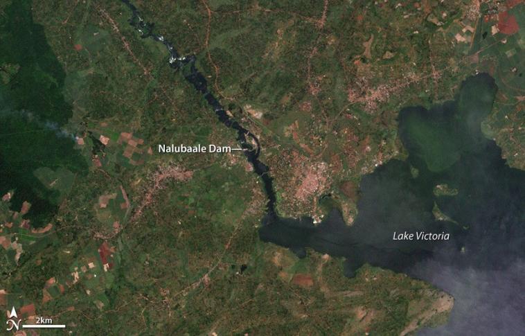 Talsperren und Stauseen: Owen-Falls-Damm am Victoriasee