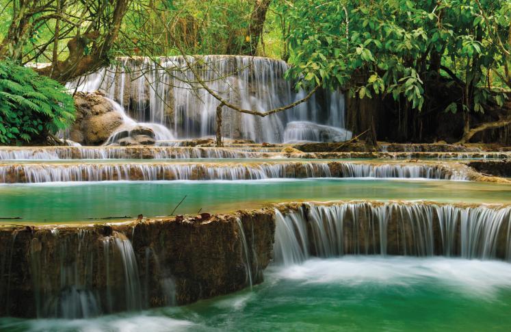 Kuang Si Wasserfall, Luang Prabang, Laos
