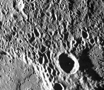 Kraterlandschaft des Merkur