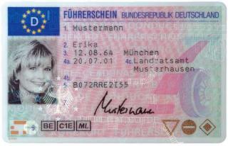 Führerschein, Kartenführerschein, Fahrerlaubnis