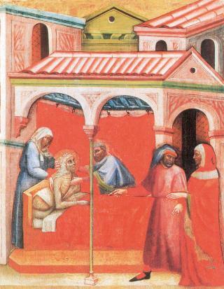 Carlo di Camerino: Die Werke der Barmherzigkeit: Die Kranken besuchen