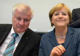 Bundeskanzlerin Angela Merkel und der bayerische Ministerpräsident Horst Seehofer