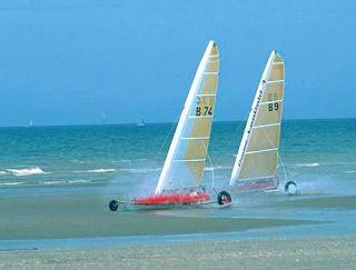 Niederlande, Nordseeküste, Strandsegler