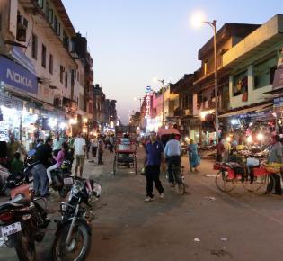 Main Bazar in New Delhi