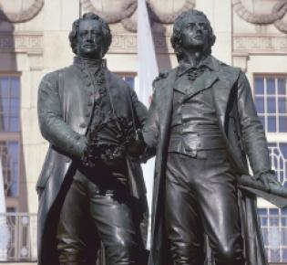 Goethe-Schiller-Denkmal in Thüringen